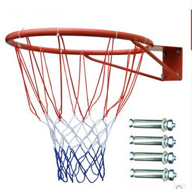Top quality sport goods standard size basketball hoops inner diameter 38cm stable basketball rims including net(China (Mainland))