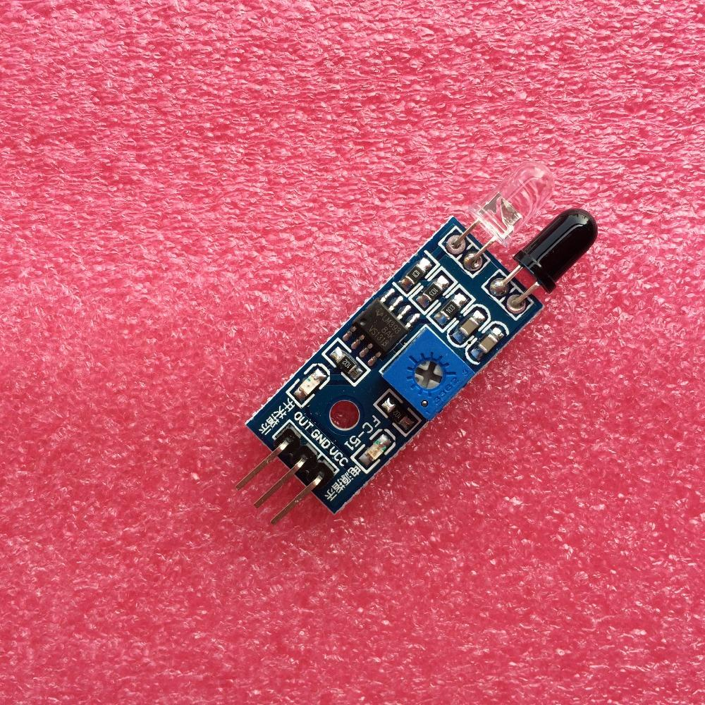 1pcs IR Infrared Obstacle Avoidance Sensor Module for Arduino Smart Car Robot 3-wire Reflective Photoelectric New hei(China (Mainland))