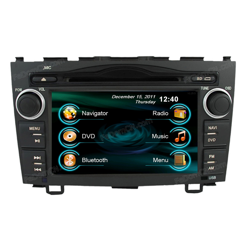 0602 steering-wheel Special touch screen 2 din car accessories multimedia audio radio dvd player gps For Honda CR-V C7004HC(China (Mainland))