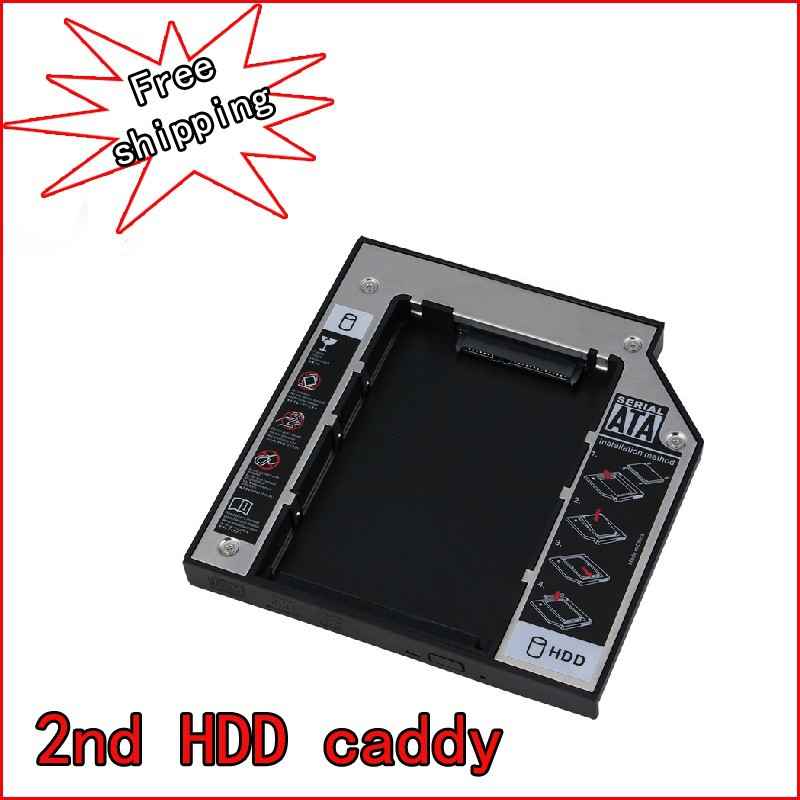 Universal 12.7mm SATA to IDE 2nd HDD HARD DISK DRIVE caddy bay for HP Pavilion DV9500 DV9600 DV9700 DV9800 Series laptop(China (Mainland))