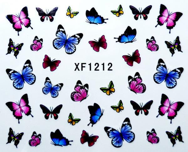 Fashion japan style1 Sheets 3D Design cute DIY watermark butterflies Tip Nail Art Nail Sticker Nails Decal Manicure nail tools(China (Mainland))