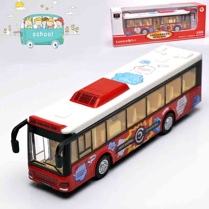 1:32 Diecast & Toy Vehicles,Alloy City Bus Toy,Metal Car Toy Model,Musical,Flashing,Pull Back,Doors Openable Bus(China (Mainland))