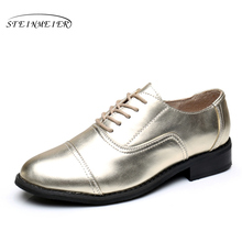 women flats Leather Oxford Shoes For Women Big Woman Size 11 Designer Vintage flat Shoes Round Toe Handmade White Creepers(China (Mainland))