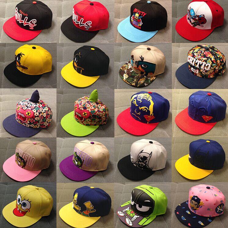 2015 New Unisex Cartoon Kids Baseball Caps Children Hiphop Snapback Adjustable 32 Colors Hats Boys&girls baby Brand caps - Sweet Love store