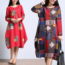 2015 New Autumn Japan Korean Style Mori Girl Kawaii Lolita Preppy Cute Party Cotton Linen Women