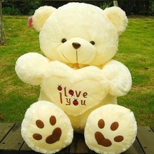 Buy Hot Sale Stuffed Plush Toys 45cm 60cm LOVE Big Plush Teddy Bear Soft Gift Valentine Day Birthday Toys for $15.68 in AliExpress store