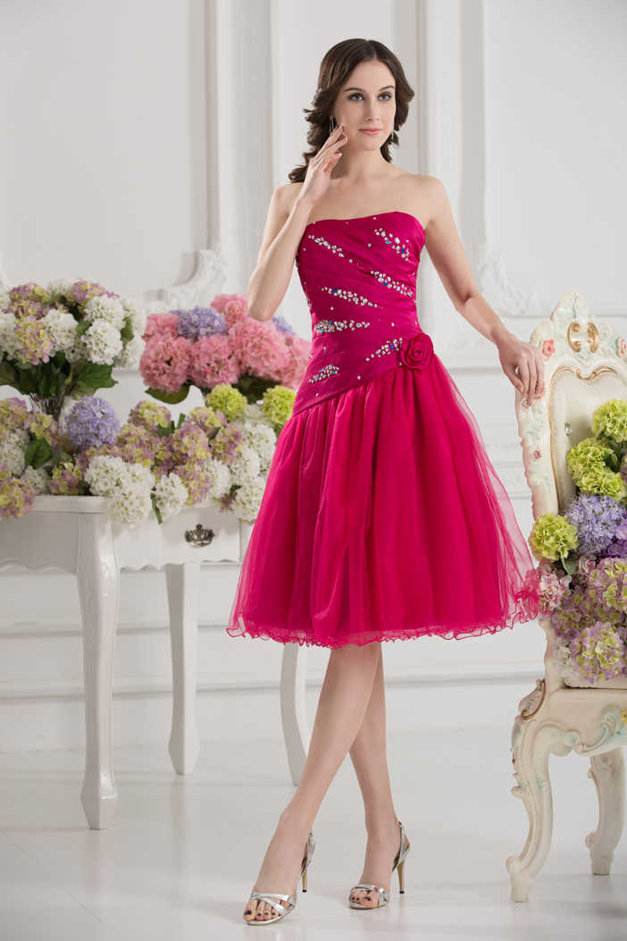 2014 hot sale new princess sweetheart knee length sexy for Womens summer dresses for weddings