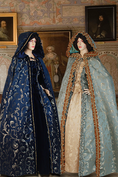 Medieval Renaissance Long Cape Cloak Costume Brocade 100% HandmadeОдежда и ак�е��уары<br><br><br>Aliexpress