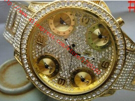 New silver full iced bling bling watch diamond(China (Mainland))