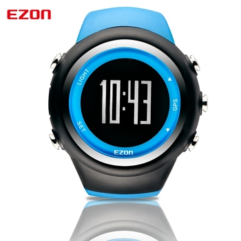 High Quality Multifunctional GPS Running Sports Watch 5ATM Waterproof Pedometer Calorie Counter Digital Watch EZON T031A03