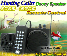 48W 800M Remote Control Outdoor Hunting Bird Caller MP3 Player Decoy Birds Loudspeaker Portable Amplifier External Speaker - Good Sound Audio store