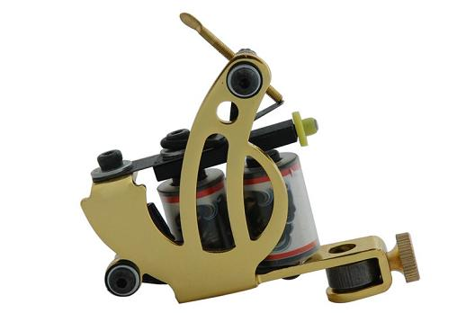 Chrome Tattoo Machine For Beginner Tattoo Apprentice Machine 10 Warps Coil Guns For Liner and Shader Free Shipping TM-336(China (Mainland))