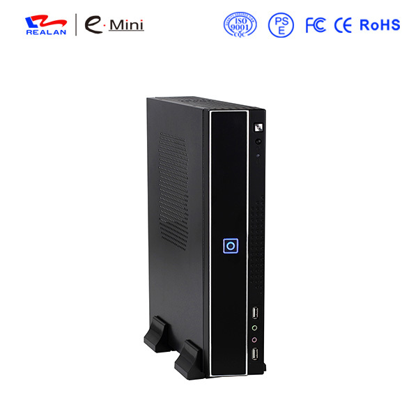 Realan Mini ITX Micro ATX HTPC Case E- T01 C with Power Supply USB Audio Expansion Slots(China (Mainland))