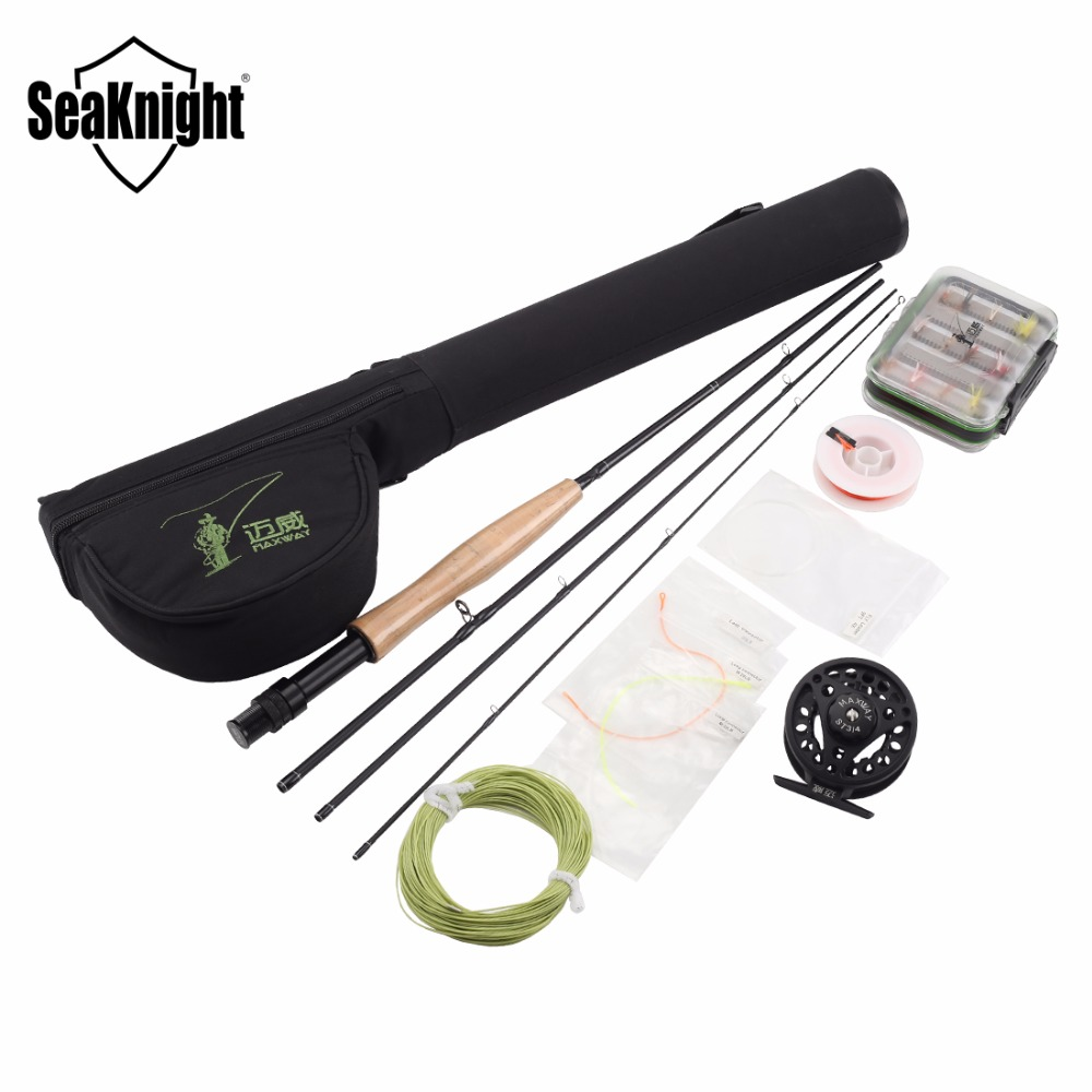 Seaknight maxway fly fishing combo kit 3 4 fly rod and for Fly fishing combo kit