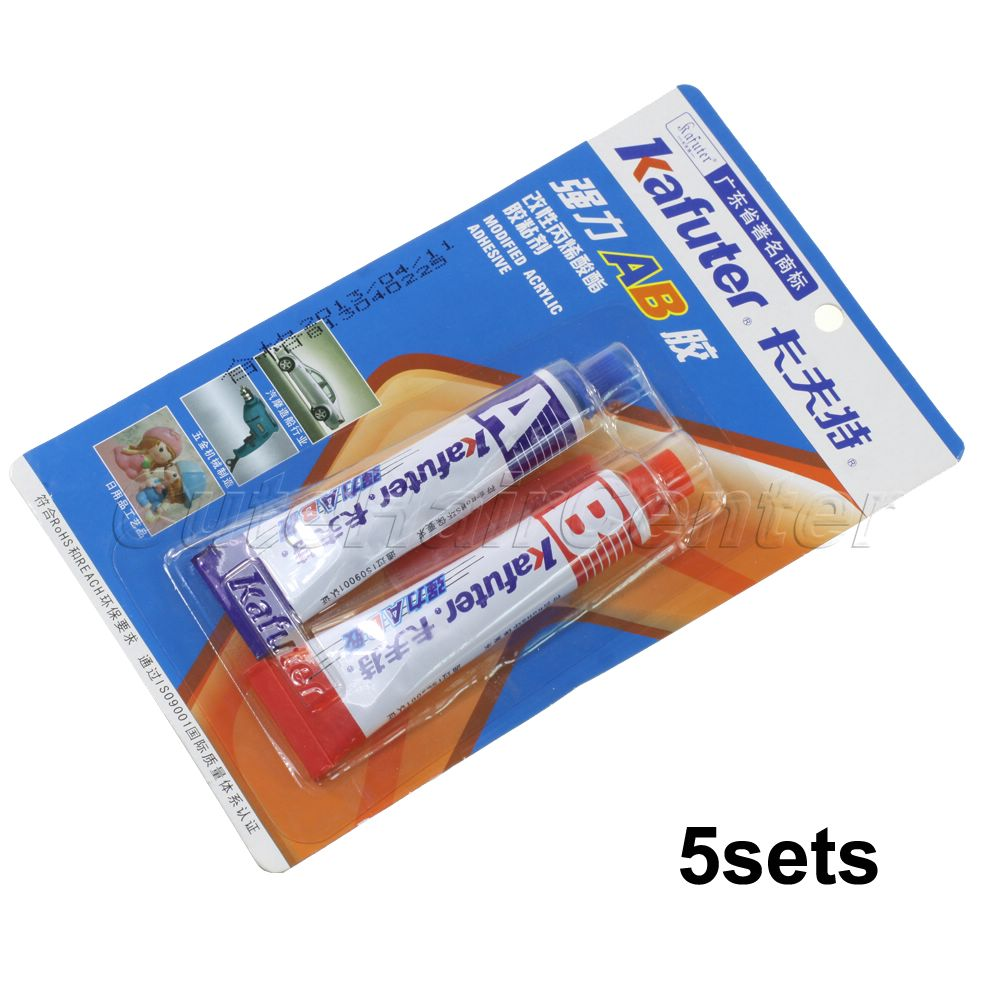 Гаджет  Wholesale 5pairs/lot Two-Component Modified Acrylate AdhesiveSuper Stick for Universal Repairing Work  1+1 AB Glue Free Shipping None Аппаратные средства