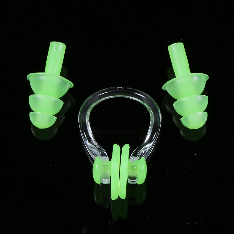 Free shipping Soft Swim waterproof Silicone Earplug nose clip set Surf Swimming Pool Accessories Waterproof adult diving Soft(China (Mainland))