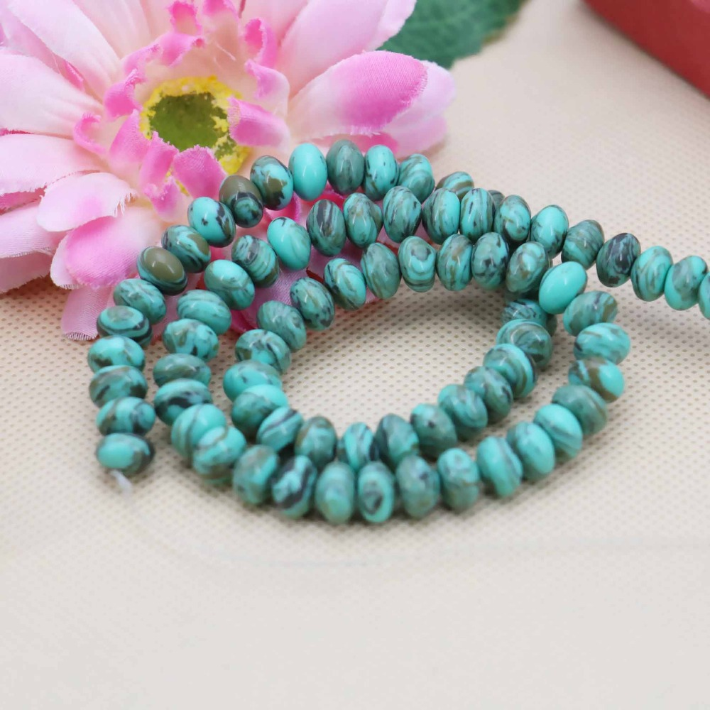 5*8mm Hot sale Blue Coffee Turquoise Abacus loose DIY beads Jasper Jewelry crafts making design 15inch Girls Gifts stones(China (Mainland))