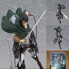 Figma Anime Attack On Titan Levi Rivaille Rival Ackerman Action Figure Doll Model Figurine PVC Figures Toy Collection Gift