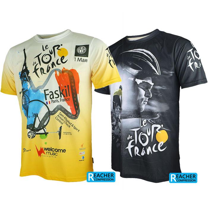 2015 Tour de France men cycling bike bicycle quick dry breathable jerseys