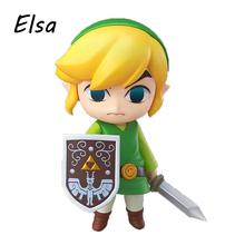 The Legend of Zelda Link Nendoroid Game PVC Action Figure 10CM Q Ver. Zelda Link Collectible Model Toy Doll WJ211