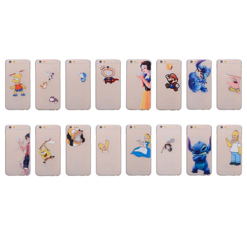 New Arrive Many Styles for Apple iphone 6 Case Transparent Innovative Logo Type Back Protect Funny Phone Cases Covers Protector(China (Mainland))