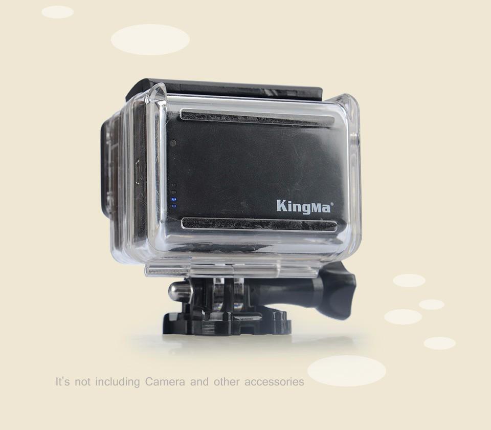 ถูก ร้อนKingMa 2500มิลลิแอมป์ชั่วโมง3.8โวลต์GoPro B Ac P Acแบตเตอรี่+ไปโปรแบตเตอรี่ประตูหลังกันน้ำลับๆที่ครอบคลุมกรณีสำหรับGoProฮีโร่4 3 3 +