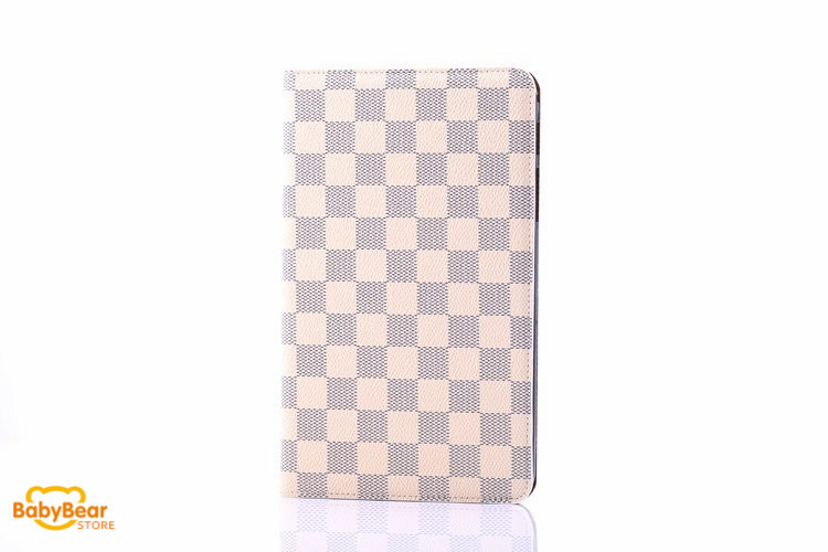 High Quality Tablet Accessories Check PU Leather Protective Case Cover For Samsung GALAXY TAB 4 8 inch T330 free shipping(China (Mainland))