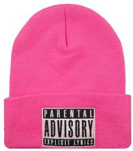 Hot New Casual Unisex PARENTAL ADVISORY EXPLICIT Beanies Pullover Skullies Hat For Women And Men Warm Woolen Hats Hip Hop Caps(China (Mainland))