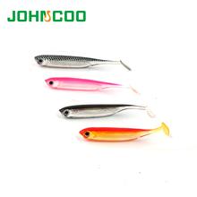 Fishing Lure Soft Bait 6pcs/bag 70mm 2.1g Shad Swimbait 3D Eyes Soft Worm Jig Head Soft Lure Fly Fishing Bait Plastic Soft Lure(China (Mainland))