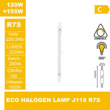ECO halogen lamp J118 220-240V 120W R7S Halogen light halogen bulb(China (Mainland))