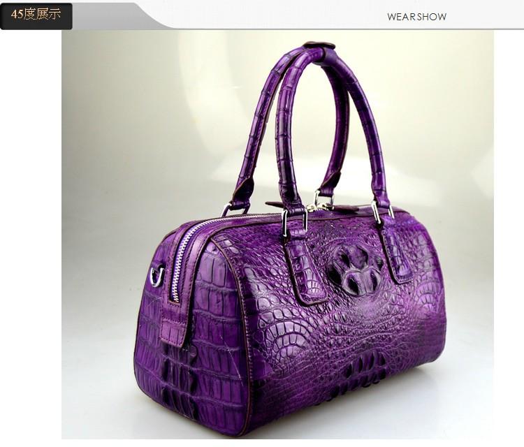 100% genuine crocodile leather skin handbag 2016  fashion alligator skin women tote cross body bag