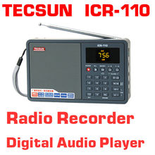 Free Shipping TECSUN ICR-110 FM/AM TF Card MP3 Player Recorder Radio (upgrade version of ICR-100)(China (Mainland))