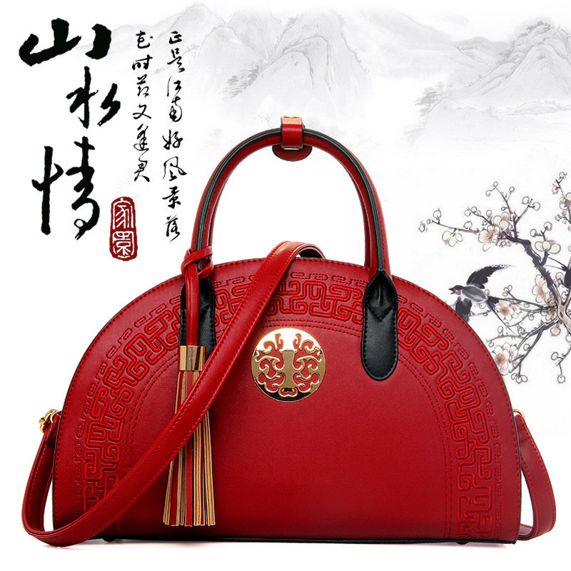 Chinese Style 2016 Vintage Handbag Creative Cross National Style Woman Leather Shoulder Bag Sac Femme De Marque Messenger Bags(China (Mainland))