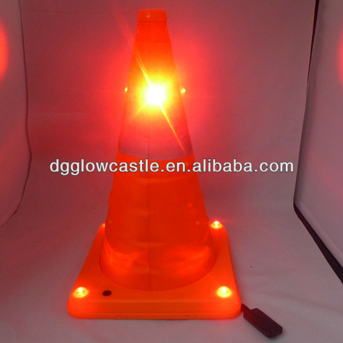 Collapsible Traffic Cone With LED Warning Light Road Safety Cone(China (Mainland))