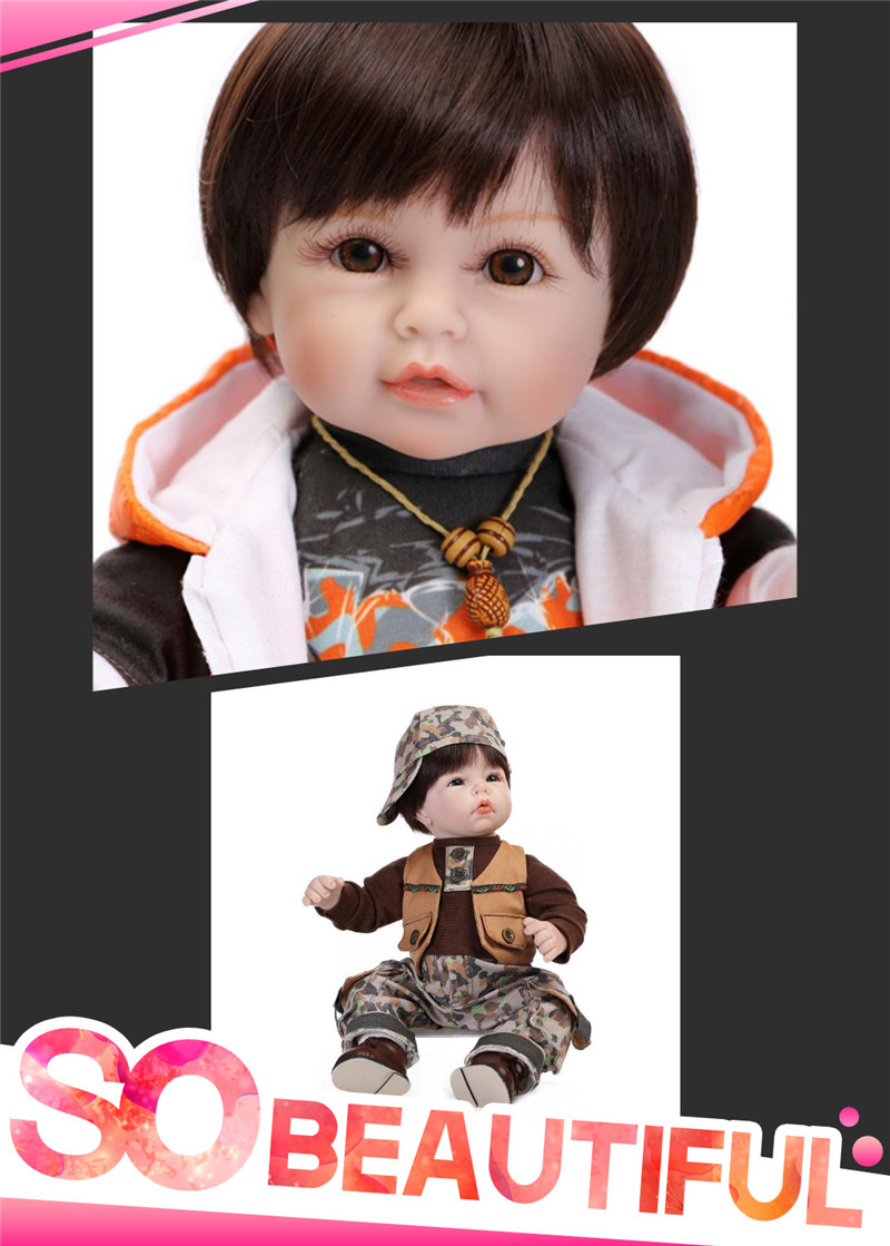 Hot Fashion Lifelike Toddler Dolls With Cool Baby Doll Clothes Hot Sell Silicone-Reborn-Baby-Dolls For Kids As Simulation Doll(China (Mainland))