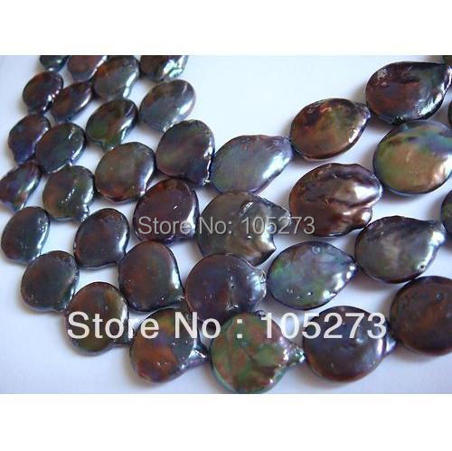 New Arriver Natural Pearl Jewelry 16-17mm Peacock Coin Shaper Freshwater Pearl Loose Beads 15/String Hot Sale Jewellery<br><br>Aliexpress