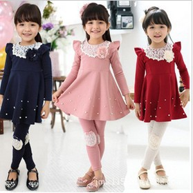 Cute Fall Girls Dresses Wholesale Newest Spring fall