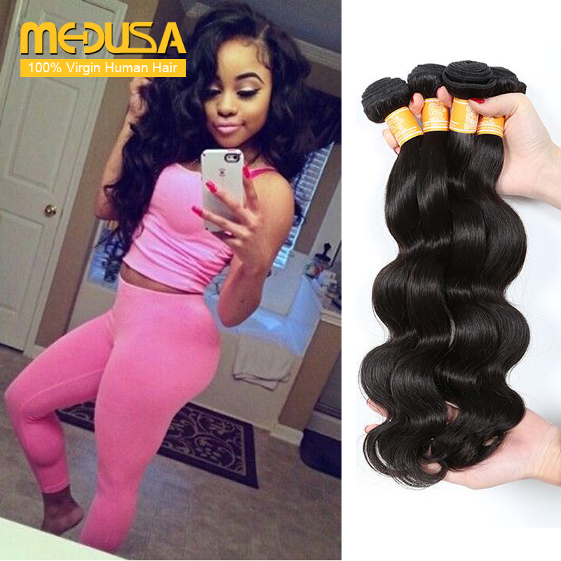 Indian Virgin Hair Body Wave 4 Bundles Grace Hair Products Raw Indian Hair 7A Grade Wet And Wavy Human Hair Extensions Company(China (Mainland))