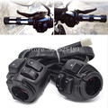 2x Black CNC 1 Motorcycle 25mm Handlebar Switches Control Horn Turn Light On Off Switch For