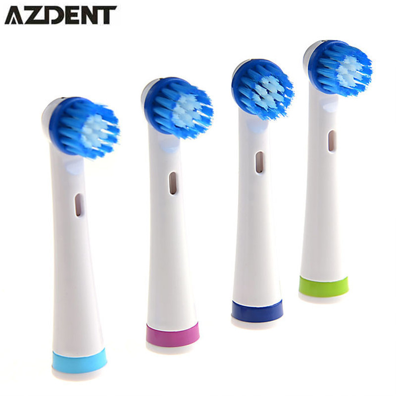 4pcs/ Pack Replacement Electric Toothbrushes Heads Soft-bristled Oral Hygiene Care Clean 4 Color Tooth Brush Heads