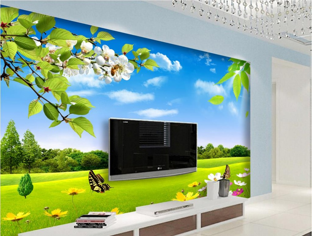 Online get cheap wallpaper window mural for Cheap wall mural wallpaper