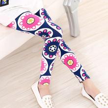 2016 sommer Baby Kinder Kinder druck Blume Kleinkind Klassische Leggings mädchenhosen Mädchen legging 2-14Ybaby mädchen leggings(China (Mainland))