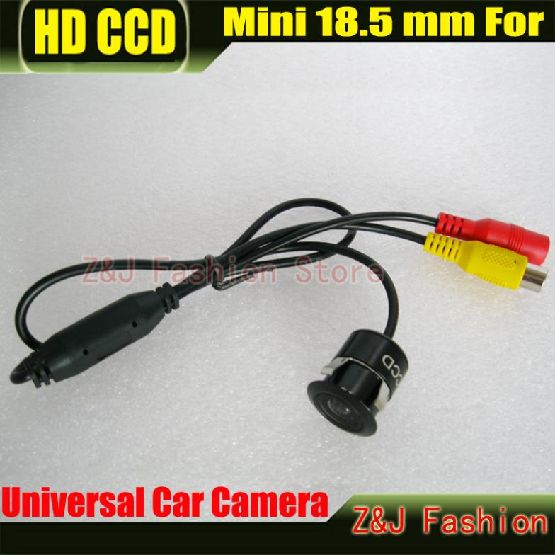 Free Shipping Mini Car 18.5MM Camera HD CCD Car Rear View Camera Reverse Parking back up Camera night vision waterproof(China (Mainland))