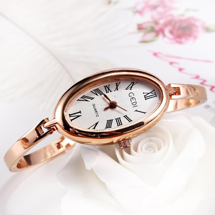 Gedi Women Watch Luxury Brand 2015 Rose Gold Quartz Slim Band Dress Watches Hook Buckle Bracelet Wristwatches Relojes Mujer Saat(China (Mainland))