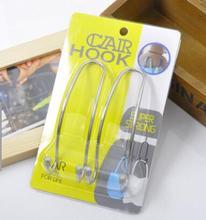 2x Auto Car Venicle Seat Bag Hook Headrest Accessories Hanger Holder Organizer Coat Hanger Clothes Jackets Suits Holder(China (Mainland))