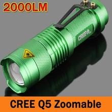 Mini CREE LED Flashlight Zoomable LED Torch flashlight torches light lamps for 14500/AA ZK93(China (Mainland))