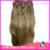 Бесплатная доставка 24 дюймов 8 шт. 120 г естественная прямая китайский реми заколки для волос расширение 15 цвета для волос