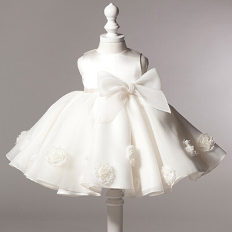SALE Girls dresses High quality baby girls frock designs white wedding party costume christening dress vestitino battesimo HA236(China (Mainland))