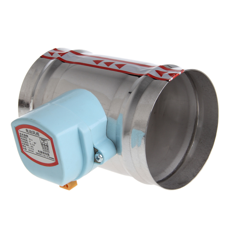 "4"" 220V AC Stainless Steel Electric Solenoid Valve Damper Tight Water Steam(China (Mainland))"