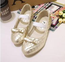 shoes kids spring and autumn period and the new children's shoes slip-on girls single children leather shoes, casual shoes 4368